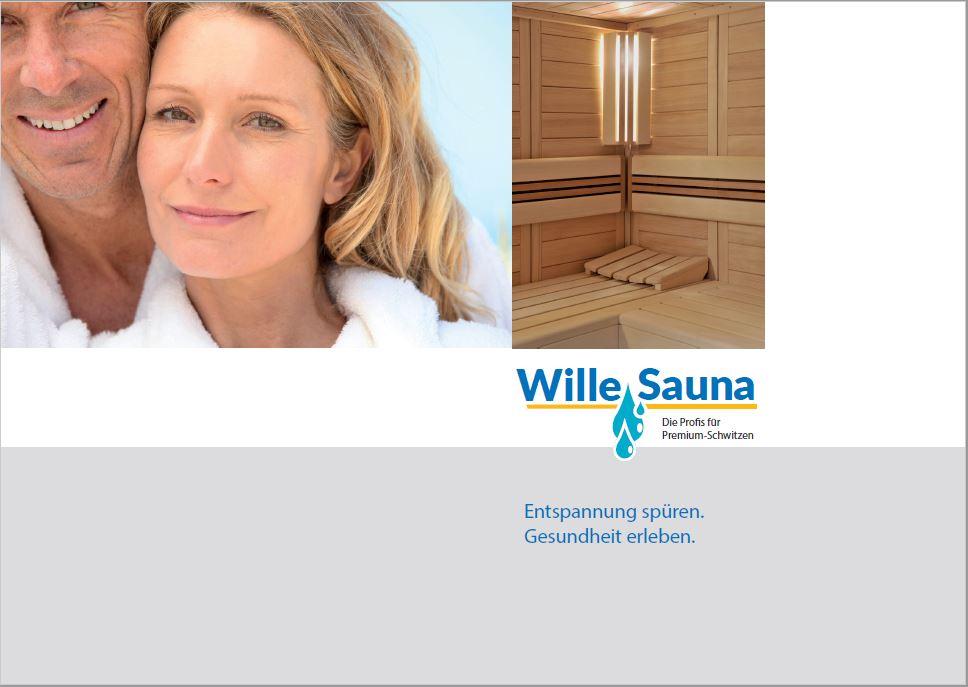 Broschüre Wille Sauna